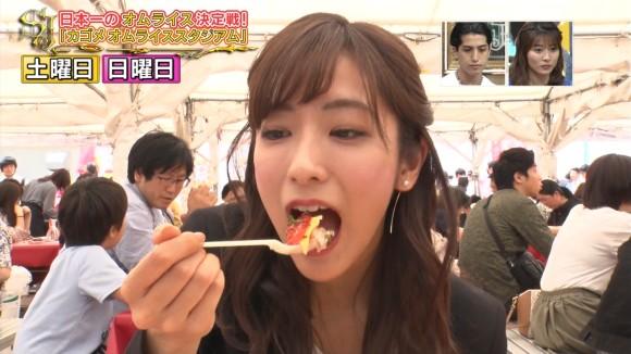 TBS田村真子アナがぬか床料理をいやらしく食べる