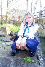 北欧美女メロディー・雛・マークスに日本の制服着せてハメ撮りしてみた